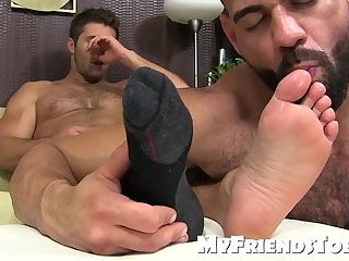 Hunks gay licking feet photo