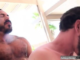 Mature bear sucked before bareback sex