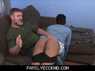 Bear Step Dad Fucks Latino Foreign Exchange Student Twink After Catching Stepson Stealing