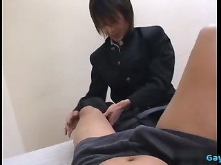Japan daddy rimjob with cumshot