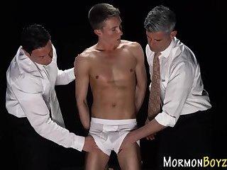 Mormon studs butt fucked
