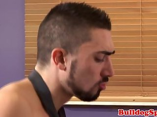 Suit stud pounding ass in the office