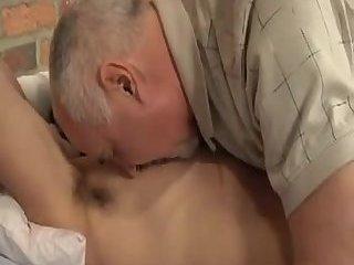 old neighbor explores my husbands body