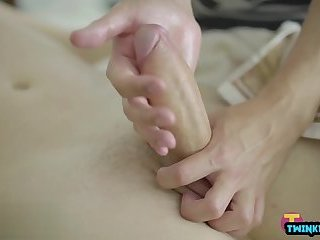 Shaved twinks bareback and facial cum