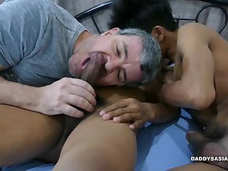 Daddy and Asian Boys Bareback