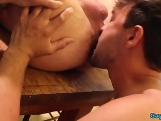 Hot gay flip flop and anal cumshot