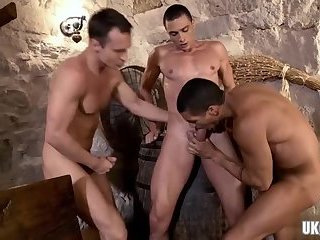 Latin gay flip flop with facial