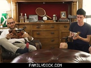 FamilyDick - Sweet older daddy pops virgin boy's cherry