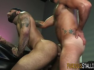 Hunk fucked with big dong