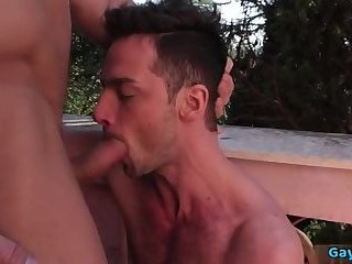 Big dick daddy ass to mouth with cumshot
