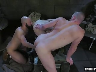 Hot military fetish and cumshot