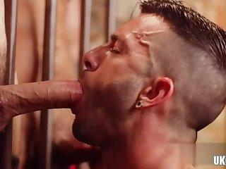 Latin gay threesome and facial