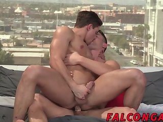 Muscular gay Ryan Rose thrashes asshole with big cock