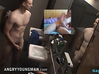 Hot military rimjob with cumshot