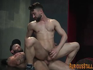 Gay hunk pounding ass