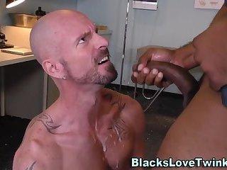 Black doctor drills hole