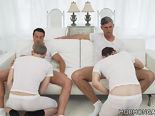Alpha Males Serviced By Mormon Twinks