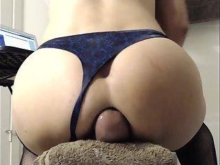 Guy breeds his own ass HOT