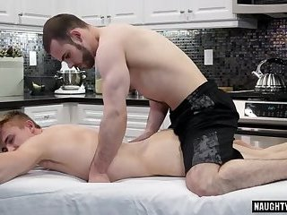 Muscle gay anal sex with massage