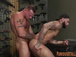 Gay hunk getting facial