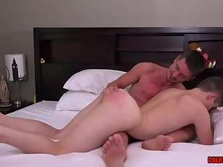 Colby Chambers tapping Eli Lincoln's bubble ass