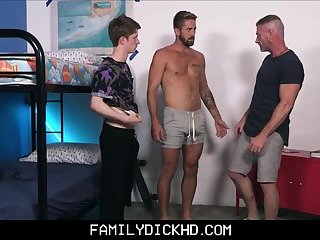 Step Dad Has Sex With Both Twink And Jock Step Sons Threesome
