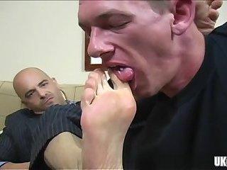 Hot gay foot fetish with cumshot