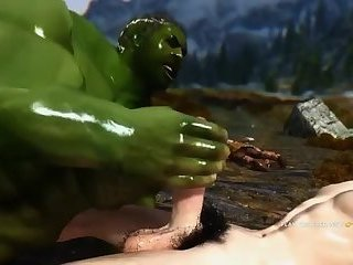 SMALL TWINK AND THE GIANT HULK IN GAY 3DGAME
