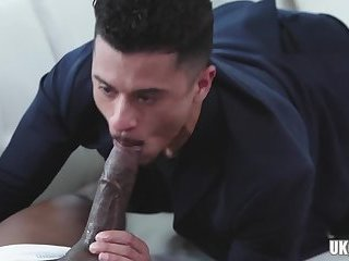 Hot daddy interracial sex with cumshot