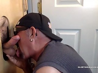 Construction Stud Gloryhole Blowjob