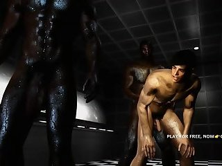 SKYRIM porn 3d parody game BIG BLACK COCK group