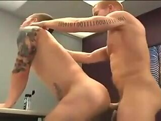 Sexy redheaded dude drilling a stranger in the ass