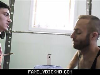 Twink Step Son Fucked On Workout Bench By Step Dad After An Arm Wrestling Bet