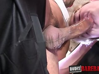 Latino stud gives tight lover ass creampie after raw plowing