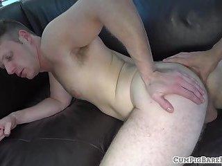 Studs barebacking before blowing loads