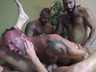 Hot bareback orgy