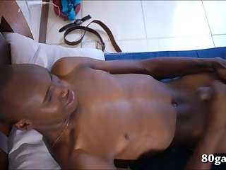 African Twink James Jacking Off