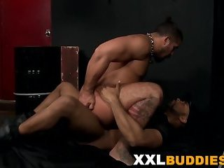 Dude blows on black dong