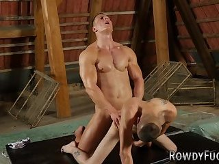 Muscly Fighter Rides Cock