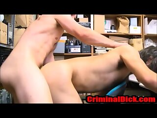 Straight Hairy Hipster Thug fucked by the cops