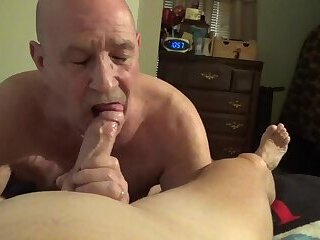 Watch me as i suck all the cum out of Stevens cock and balls