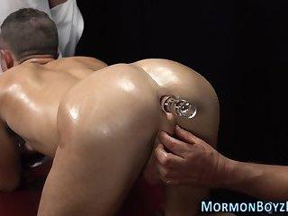 Anally toyed mormon elder