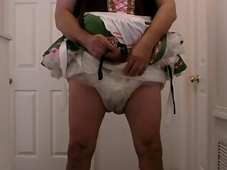 Peter Went diapered sissy beer locked in chastitywench