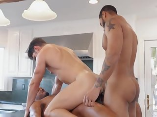 Awesome latino gay hunks threesome 13