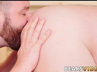 Hairy butt buddies waste no time barebacking hard and fast