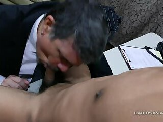 Daddy and Asian Twink Alex Fuck
