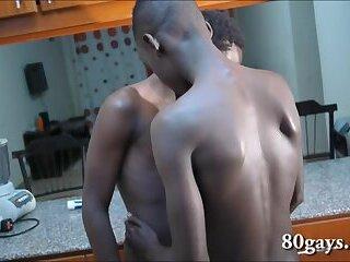 African Twinks David and Eugine Bareback