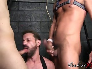 Hardcore ass gaped after blowjob and raw threeway