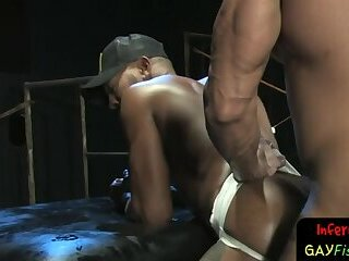 Black hunk fisted and anally slammed