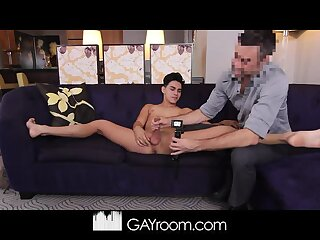 Aaron Perez gets interviewed and fucked on the Gay Casting Couch!